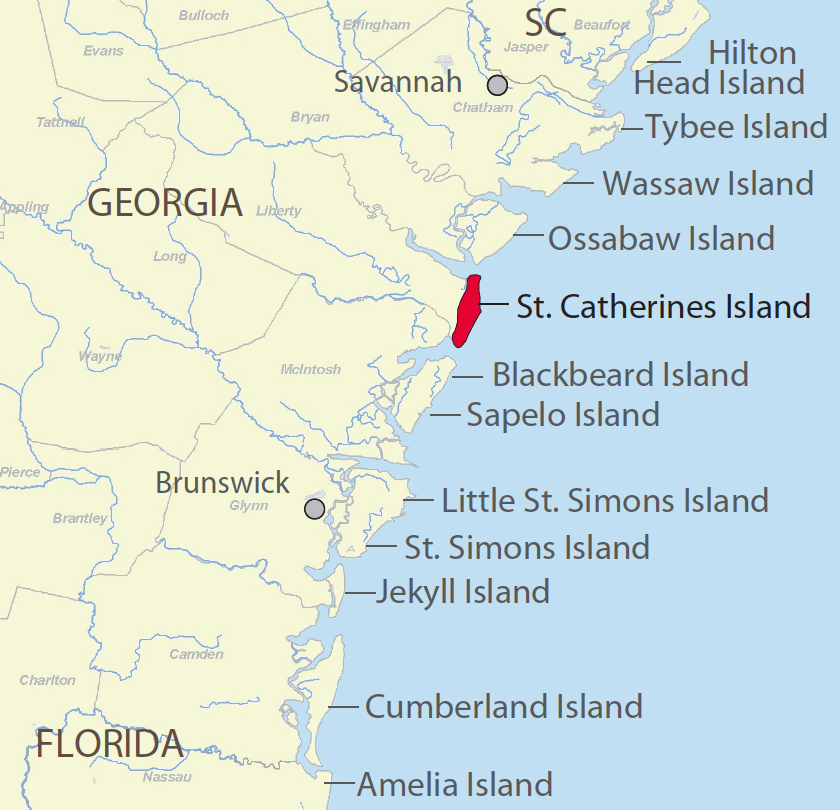 South Carolina Barrier Islands Map Georgia Map - Georgia map islands